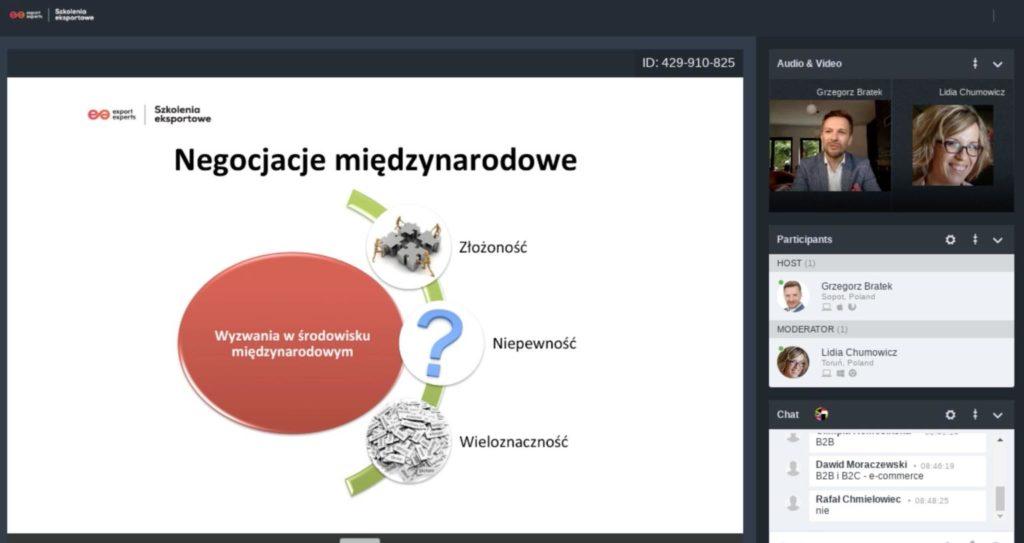 """""""Jak nie stracić rynków zagranicznych oraz rozwijać eksport w kryzysie"""", 08.05.2020, Kraków"""