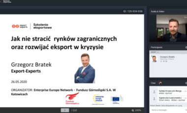 """""""Jak nie stracić rynków zagranicznych oraz rozwijać eksport w kryzysie"""", 27.05.2020r., Katowice"""