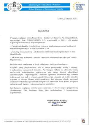 IPH w Krakowie – szkolenie eksportowe – opinia