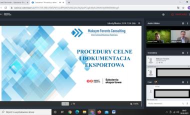Procedury celne i dokumentacja eksportowa, 21.05.2021 r., otwarte szkolenie on-line