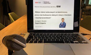 Wpływ różnic kulturowych na bezstresową pracę oraz budowanie dobrych relacji z klientami i współpracownikami, 13, 20.04.2021 r., Webinar Interkulturowy, IBM Global Services Delivery Centre Polska Sp. z .o.o.
